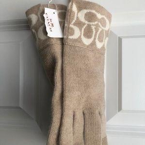 Coach Cloth Gloves